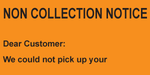 Non-Collection Notice