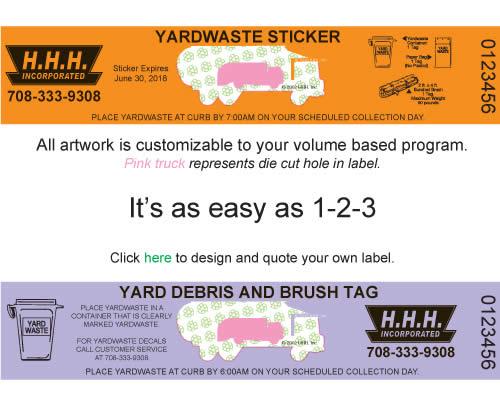 yard waste stickers